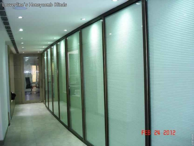 Honeycomb Blinds at office interiors