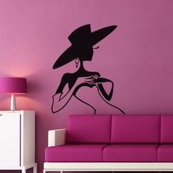 Mysterious Lady Wall Decal ( KC124 )