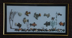 Natural Pebble Stone Art – an Aquarium