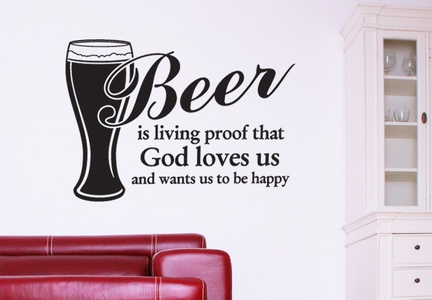Be Happy with Beer Wall Decal ( KC038 )
