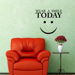Wear a Smile Today Wall Decal ( KC382 )