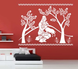 Shakuntala With Deer Wall Decal ( KC016 )