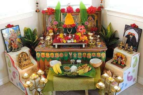 Navratri home decoration dussehra decoration ideas photos for Navratri decorations at home