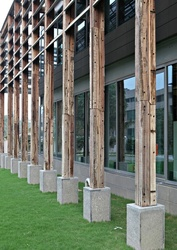 Recycled Wooden Cladding to Columns
