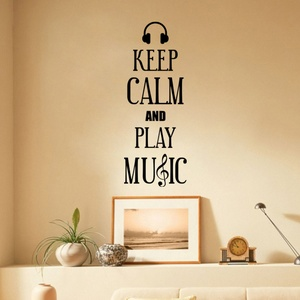 Keep Calm and Play Music Wall Decal ( KC364 )