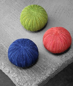 Bingo Finely Knitted Cotton Poufs
