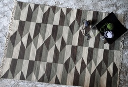Kratos Geometric Pattern Wool Rugs
