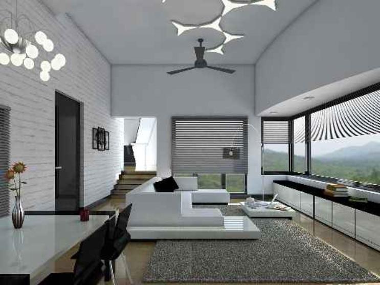 Interior at goa by praful purabiya architect in mumbai - The living room mumbai maharashtra ...