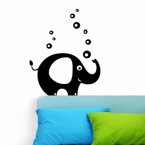 Elephant With Bubbles Wall Decal