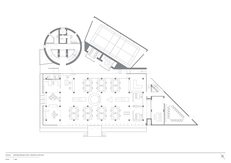 The Ground Floor Plan for Archohm Studio