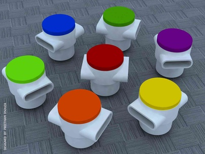 Stools in colors