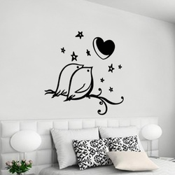 Love Birds Wall Decal ( KC036 )