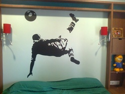 Pele Bicycle Kick Wall Decal ( KC017 )