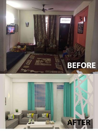 Small Budget Big Makeover Living Room By Nishant Sinsinwar Interior Designer In Noida Uttar Pradesh India