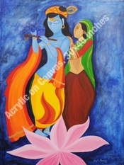 Diving Passion – Radha Krishna Painting