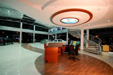 Amazing Ceiling Work In Skoda Showroom