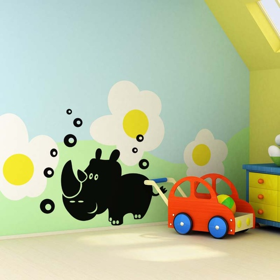 Little Rhino Wall Decal ( KC028 )