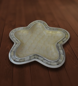 Platter Mother of Pearl Star