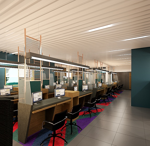 Commercial office for kolkata based travel agency by for Travel agency office interior design