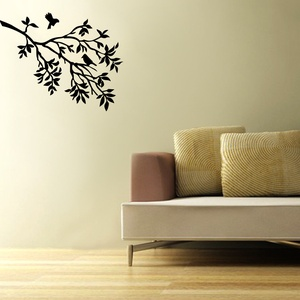 Birds on Tree Wall Decal ( KC199 )