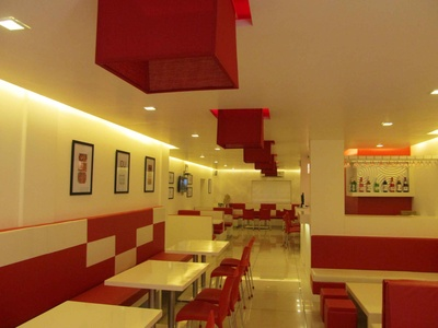 False ceiling designs used for the restaurant interiors