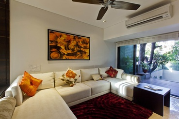Seating Area in Son's Suite  - Photography by Esha Daftari