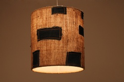 Sustainable Handmade Sylvn Studio Burlap Lamp