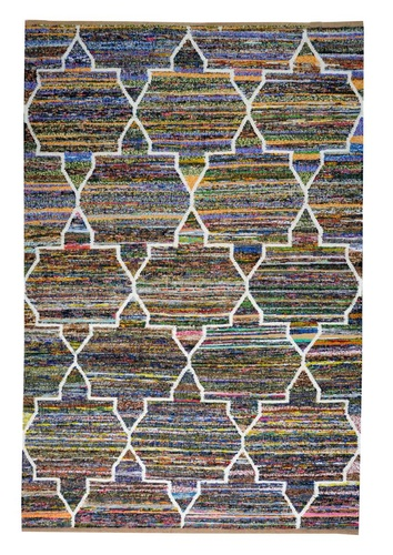 Ardia Traditional, Recycled Cotton and Wool Rugs  - Hand-woven Rugs