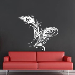 Peacock Feather Wall Decal ( KC139 )