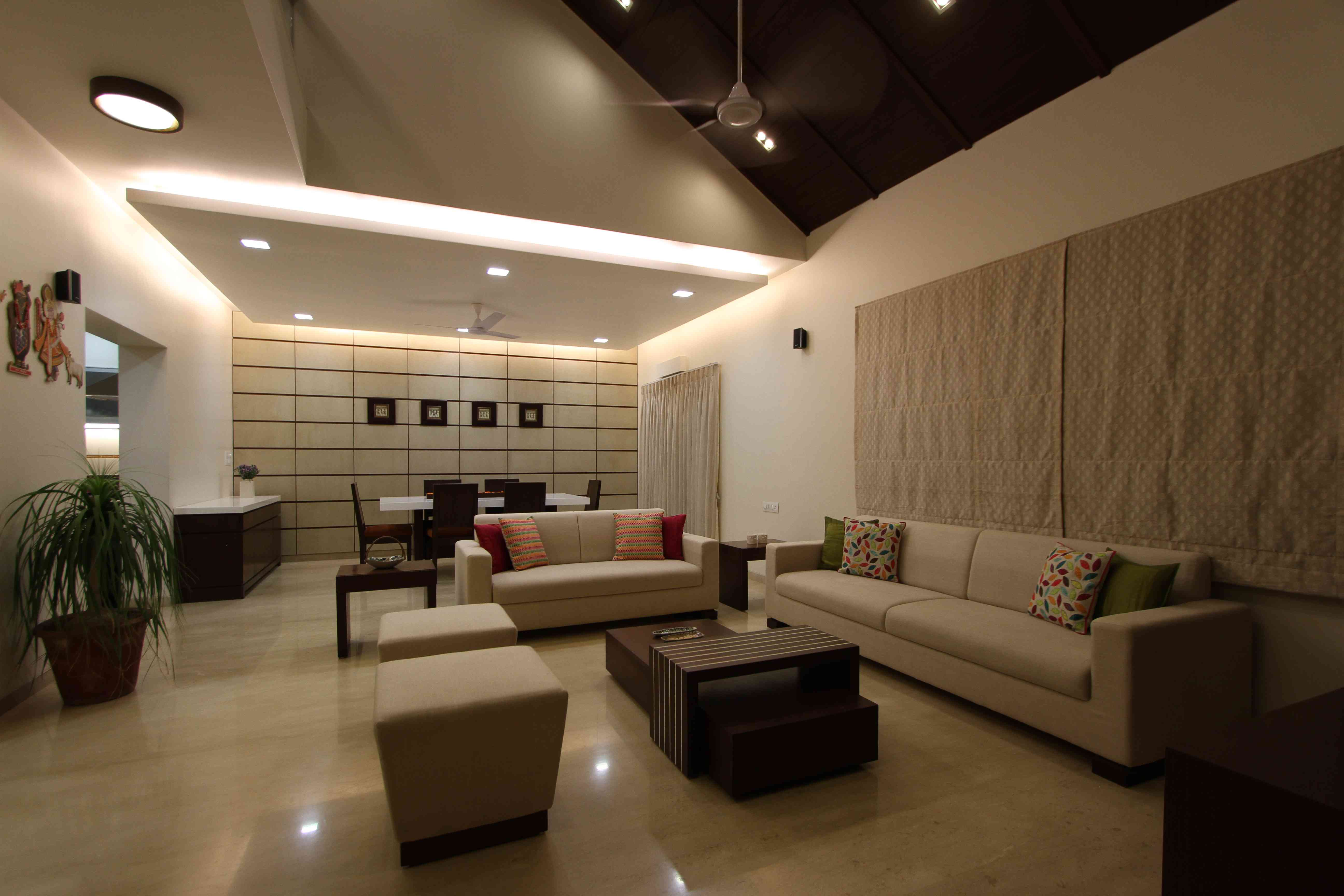 False ceiling design ideas false ceiling interior designs for Living dining room designs