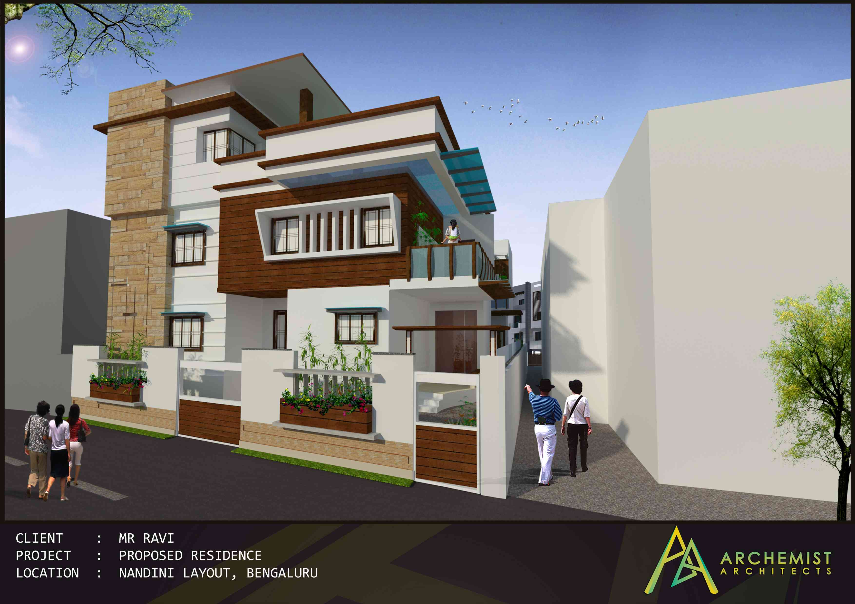 Residential projects of archemist architects zingyhomes for Architecture design for home in hyderabad