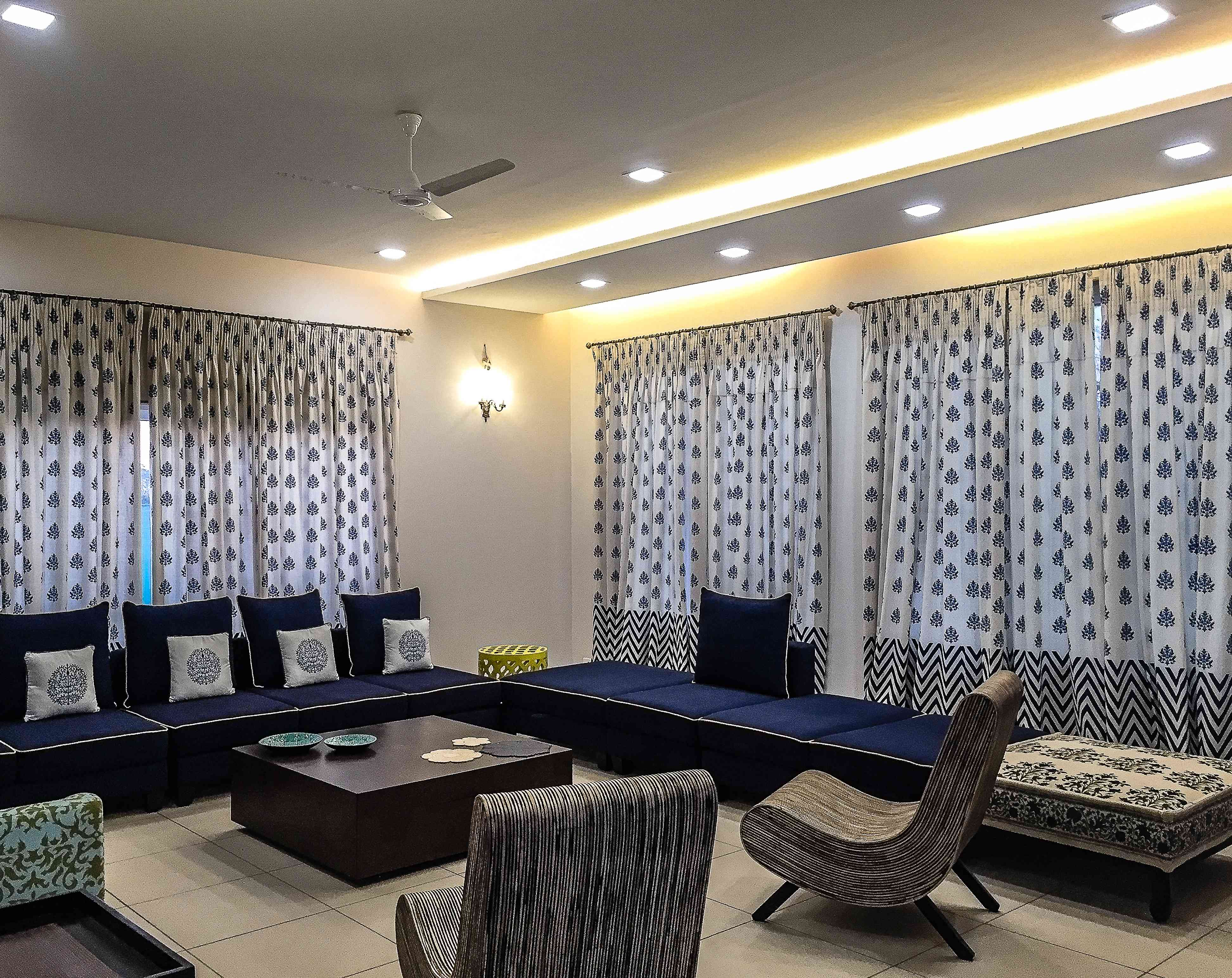 Drawing room interiors drawing room interior ideas - Latest curtains designs for living room ...
