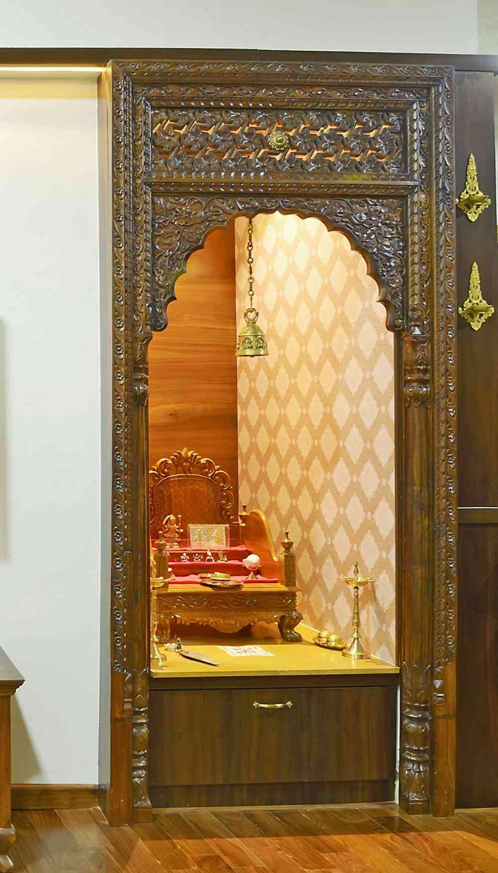 Simple Pooja Mandir Designs | Pooja Mandir Room Design Ideas for Home