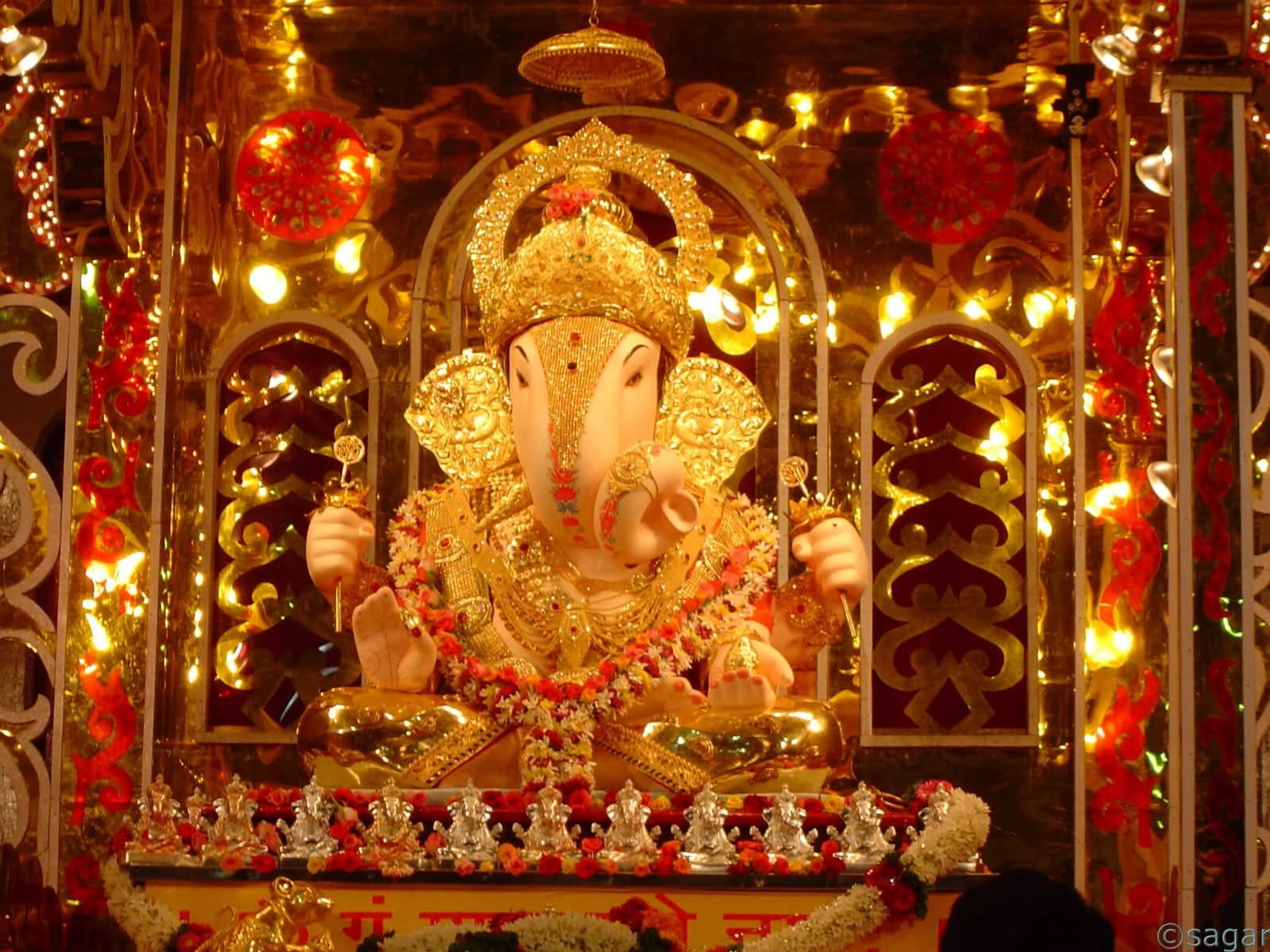 ganpati pandal decoration ideas, ganesh pendal decorations, photos